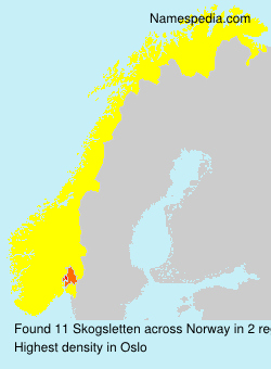 Familiennamen Skogsletten - Norway
