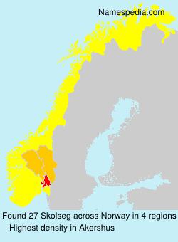 Surname Skolseg in Norway