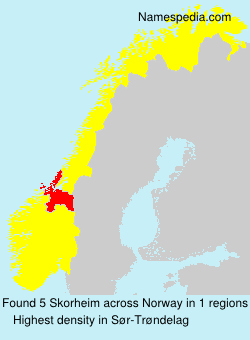 Surname Skorheim in Norway