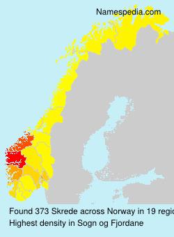 Surname Skrede in Norway