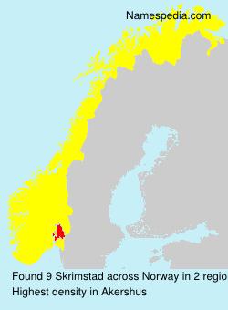 Surname Skrimstad in Norway