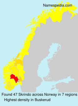 Surname Skrindo in Norway