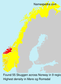 Surname Skuggen in Norway