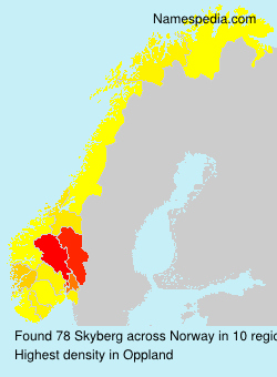 Surname Skyberg in Norway