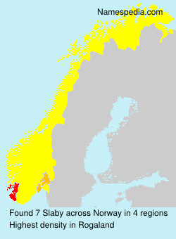 Surname Slaby in Norway