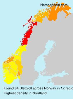 Surname Slettvoll in Norway