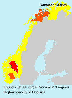 Surname Smaili in Norway