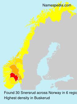 Surname Snersrud in Norway