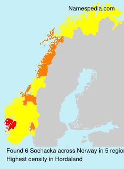 Familiennamen Sochacka - Norway