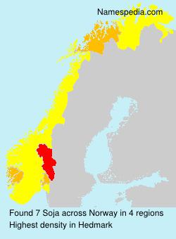 Surname Soja in Norway