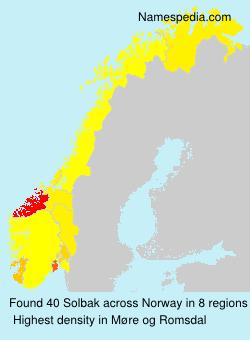 Surname Solbak in Norway