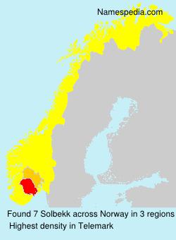 Surname Solbekk in Norway