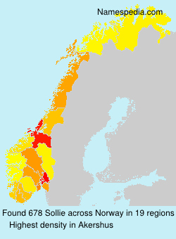 Surname Sollie in Norway