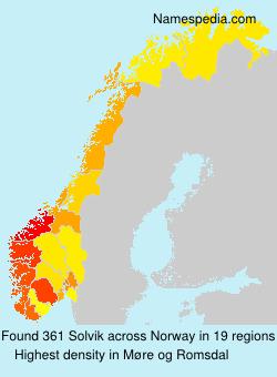 Surname Solvik in Norway