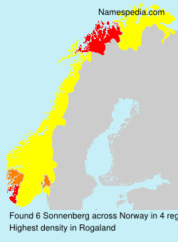 Surname Sonnenberg in Norway