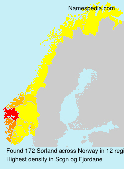 Surname Sorland in Norway