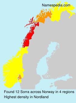 Familiennamen Sorra - Norway