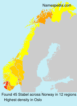 Surname Stabel in Norway