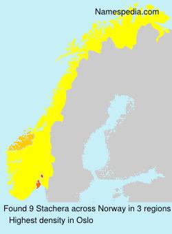 Familiennamen Stachera - Norway