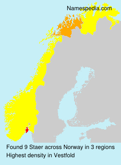 Surname Staer in Norway