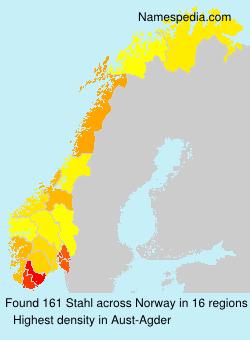Surname Stahl in Norway