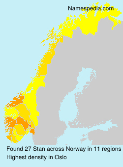 Surname Stan in Norway