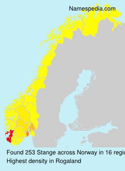 Surname Stange in Norway