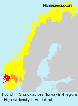 Familiennamen Stasiuk - Norway