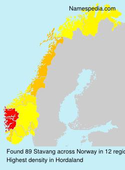 Surname Stavang in Norway