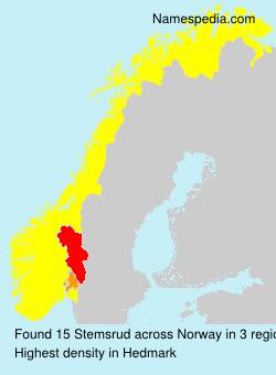 Surname Stemsrud in Norway