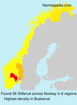 Surname Stillerud in Norway