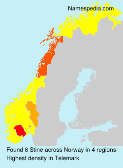 Surname Stine in Norway