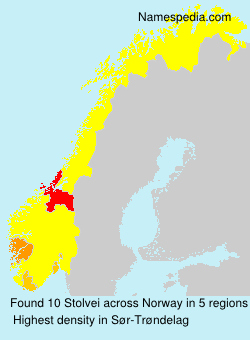 Surname Stolvei in Norway