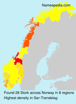 Surname Stork in Norway