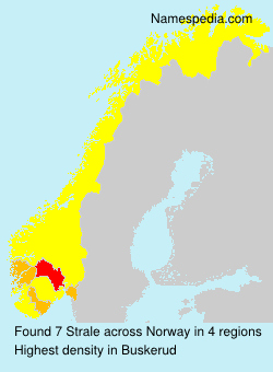 Surname Strale in Norway
