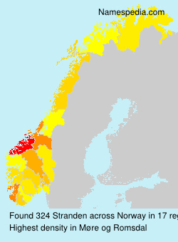 Surname Stranden in Norway