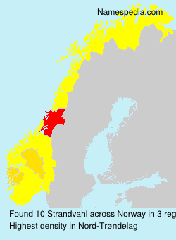 Surname Strandvahl in Norway