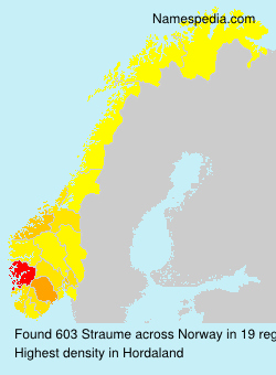 Surname Straume in Norway