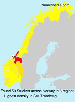 Surname Strickert in Norway