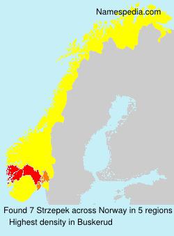 Familiennamen Strzepek - Norway