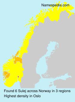 Familiennamen Sulej - Norway