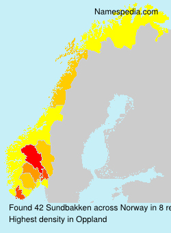Surname Sundbakken in Norway