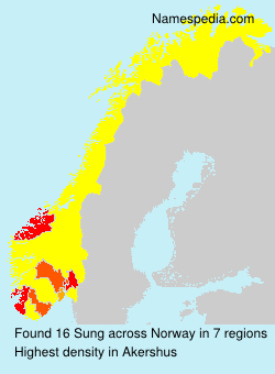Familiennamen Sung - Norway