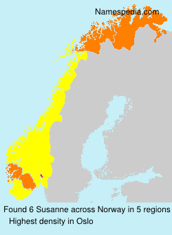 Surname Susanne in Norway