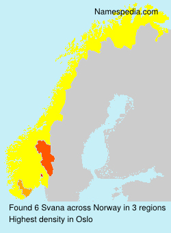 Familiennamen Svana - Norway