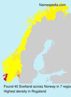 Surname Svelland in Norway