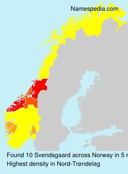 Surname Svendsgaard in Norway