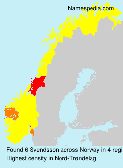 Surname Svendsson in Norway