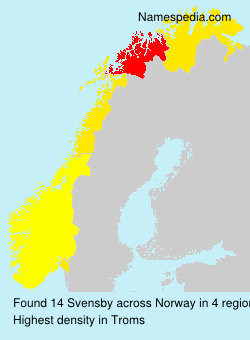 Surname Svensby in Norway