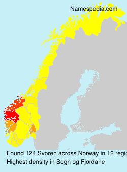 Surname Svoren in Norway